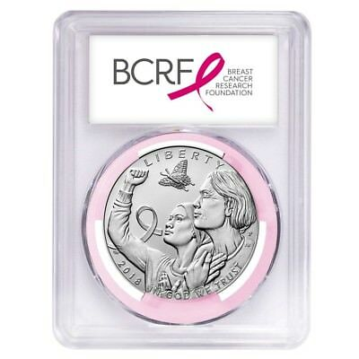 2018 P Breast Cancer Awareness Silver Dollar Commemorative PCGS MS 69 FS