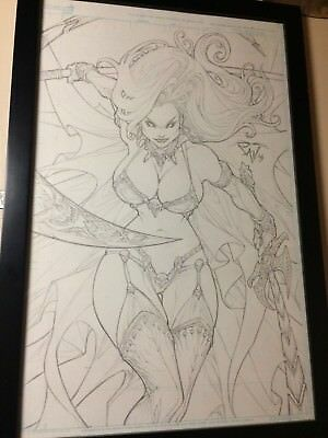 Lady Death Original Comic Art Cover Paolo Pantalena Published Lady Death Artist