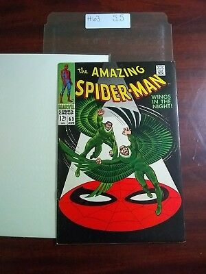 """The Amazing Spider-Man # 63 August 1968 5.5 """"WINGS IN THE NIGHT!"""""""