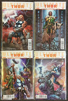 Marvel Ultimates Comics Thor 1,2,3,4 Complete Set VF/NM Hickman