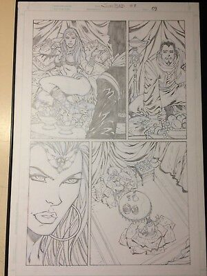 GRIMM FAIRY TAILS #7 ORIGINAL PUBLISHED PAGE PAGE 9 By Ron Adrian (Lady Death)