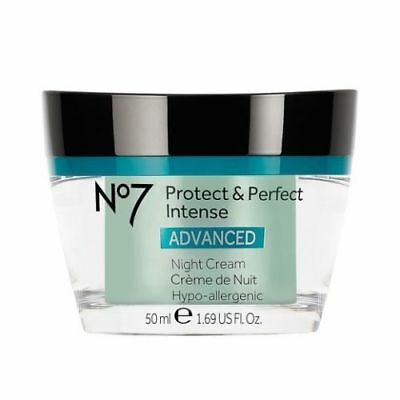 Boots No7 Protect & Perfect Intense Advanced Night Cream - 1.6oz New Sealed(NEW)