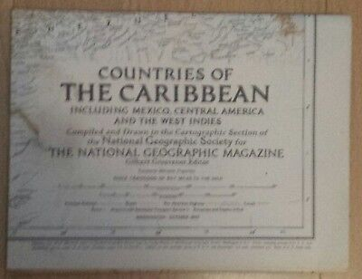 National Geographic Map of  the Countries of the Caribbean. (October, 1947).