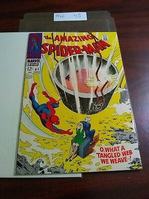 The Amazing Spider-Man 61 Fine+ Gwen Cover 1968 Marvel Classic Complete 4.5