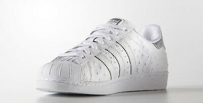 ADIDAS ORIGINALS Men's Old School Trefoil Leather Shell Toe White Sneakers Shoes