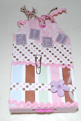 Handmade - I Love You' Pink Tag Album - 14x9cms - 8 Blank Pages