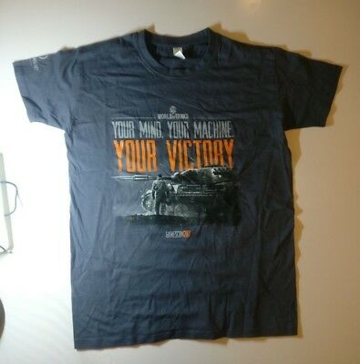 "Gamescom 2017 T-Shirt World of Tanks ""Your Mind. Your Machine. Your Victory"" S"