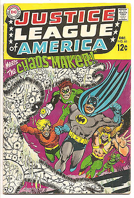 JUSTICE LEAGUE OF AMERICA #68 The CHAOS MAKER! BATMAN/HAWKMAN/GREEN ARROW