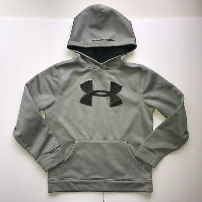 Under Armour Storm Boys Youth Medium Ymd M Hoodie Sweatshirt Loose Fit Gray