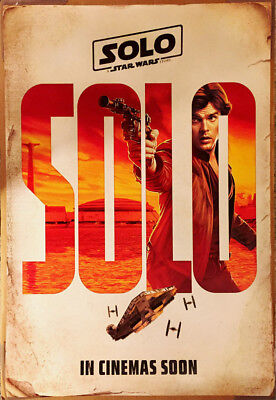 SOLO A STAR WARS STORY MOVIE POSTER 2 Sided ORIGINAL INTL 27x40 HAN SOLO