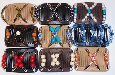 """Double Mini Hair Combs, Angel Wings Clips, 3x2.5"""", Butterfly Style, Quality MC7"""