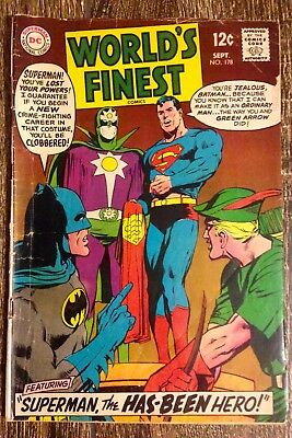 World's Finest Comics #178 (1968)  Superman the Has-Been Hero!  PRICED TO SELL!