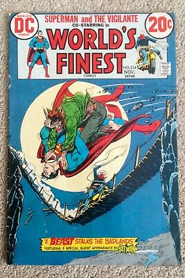 World's Finest Comics #214 (1972)  Superman and The Vigilante! PRICED TO SELL!
