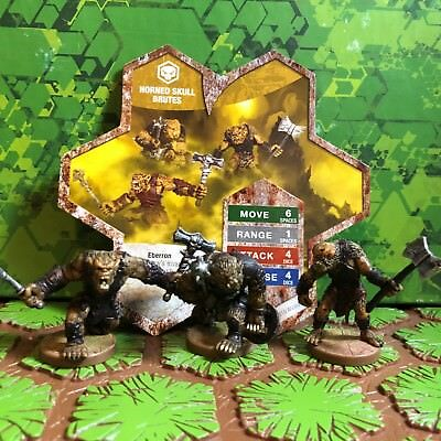Heroscape Figures: Horned Skull Brutes Hw/card from Moltenclaw's Invasion