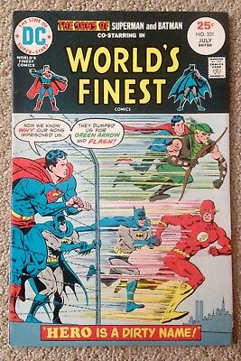 World's Finest Comics #231 (1975) Super-Sons/Green Arrow/ Flash! PRICED TO SELL!