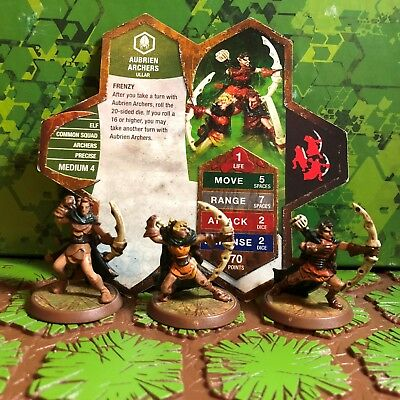 Heroscape Figures: Aubrien Archers w/card from Zanafor's Discovery