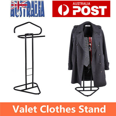 Valet Clothes Coat Hanger Stand Men Jacket Suit Shelf Women Coat Storage Black