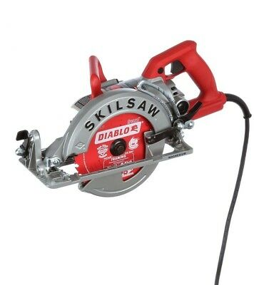 Skilsaw Corded Electric Magnesium Worm Drive Circular Saw 24T Carbide Blade --