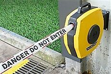 Retractable Barrier Tape -  25m.  Red/White/DANGER DO NOT ENTER
