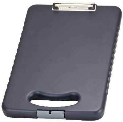 Metal Storage Clipboard Compartment Document Paper Box Container Office Memo New