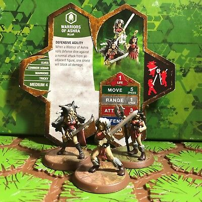 Heroscape Figures: Warriors of Ashra w/card from Thora's Vengeance