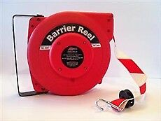 Retractable Barrier Tape - 10m. Red/White