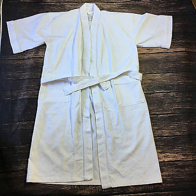 Connoisseur Waffle Weave Bath Robe White One size