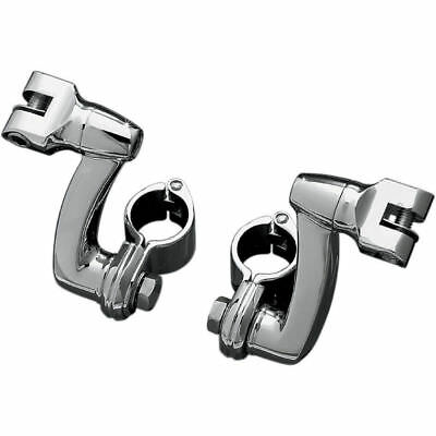 "Kuryakyn Longhorn Offset Footpeg w/ 1.25"" Magnum Clamps Highway Mounts Chrome"