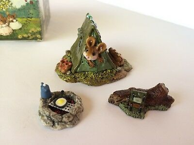Wee Forest Folk MS-16 CAMPING OUT, Green/Olive Tent w/ Accessories - MINT