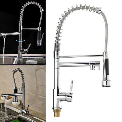 AU Brass Pull Out Kitchen Basin Mixer Tap Sink Laundry Faucet Swivel Spout NSW