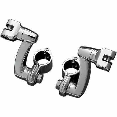 "Kuryakyn Longhorn Offset Footpeg w/ 1.5"" Magnum Clamps Highway Mounts Chrome"