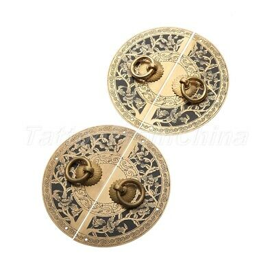 Furniture Hardware Chinese Cabinet Plate Handle Door Pull Knocker Antique  Brass
