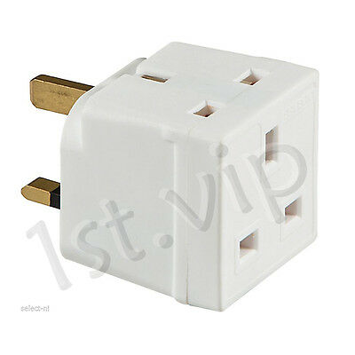 13A Two Way Unfused Electrical UK Mains 3 Pin Plug Adaptor UK Seller