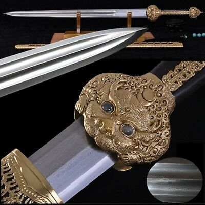Emperor Sword Hand Forged pattern steel blade sharp Broadsword waist knife #2262