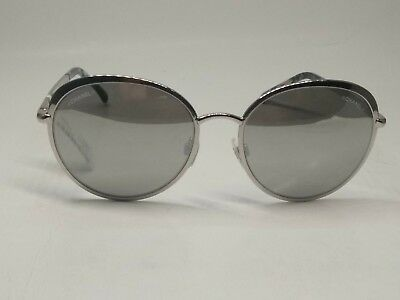 Chanel 4206 c.124/6G Silver Frame Silver Mirrored Sunglasses 55mm Lenses