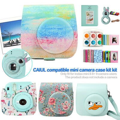 Camera Case Frame Bundle Kit for Fujifilm Instax Mini 8 8+ 9, Flamingo Cactus BY
