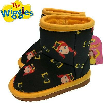 THE WIGGLES Emma Bow Print Boots Official Licensed Children's Shoes