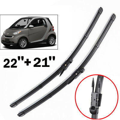 2PCS/Set Front Window Windshield Wiper Blades Fit For Smart Fortwo W451 2007-14