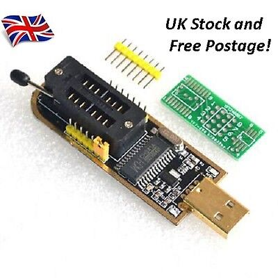 CH341A 24 25 Series EEPROM 24C02 24C08 24C16 Flash BIOS USB Programmer UK STOCk