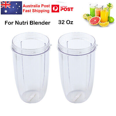2 X NUTRIBULLET COLOSSAL BIG CUP (32OZ) - SUITS All 600/900W Nutri Bullet Models