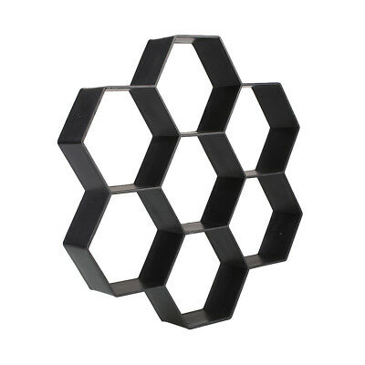 Hexagon Driveway Paving Pavement Stone Mold Stepping Pathmate Mould Paver*