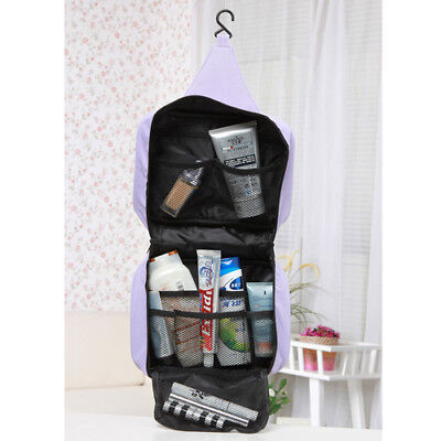 fa46856261 Hanging Travel Camping Makeup Cosmetic Toiletry Bathroom Wash Kit Bag  Organizer