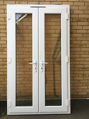 White Upvc External French Patio Doors Used But Very Good Condition