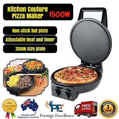 New Kitchen Couture 1500W Electric Pizza Maker Portable Cooker Machine (Black)