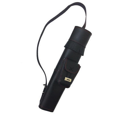 Small Black Leather Back Quiver