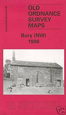 Old Ordnance Survey Map Bury (Nw) 1908