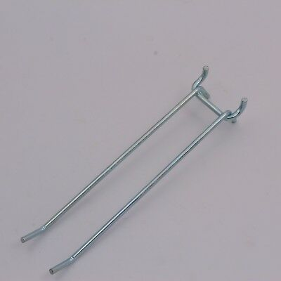 """8"""" Double Straight Pegboard Hook, PACK OF 10, 1/4"""" pegboard ULINE # H-2692"""