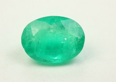 Lustrous 1.37 Carat Loose Transparent Natural Colombian Emerald From Muzo