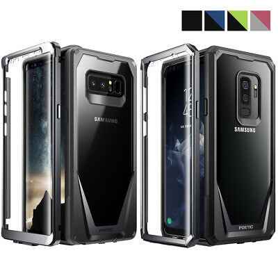 Poetic Guardian Clear Hybrid Bumper Case Samsung Galaxy Note 8/S9/S9 Plus/Note 9