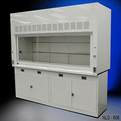 8' Chemical Laboratory Fume Hood WITH GENERAL STORAGE CABINETS NEW-